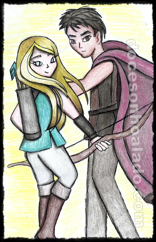 Aisling e Dharon, por Sheila Lima Wing