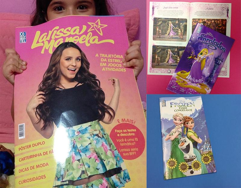 df5a5d3f4ece3 ... Princesa Sofia, Zootopia, Moana, e duas de Procurando Dory. Também  diagramei a revista gigante da Larissa Manoela, que está fazendo o maior  sucesso.