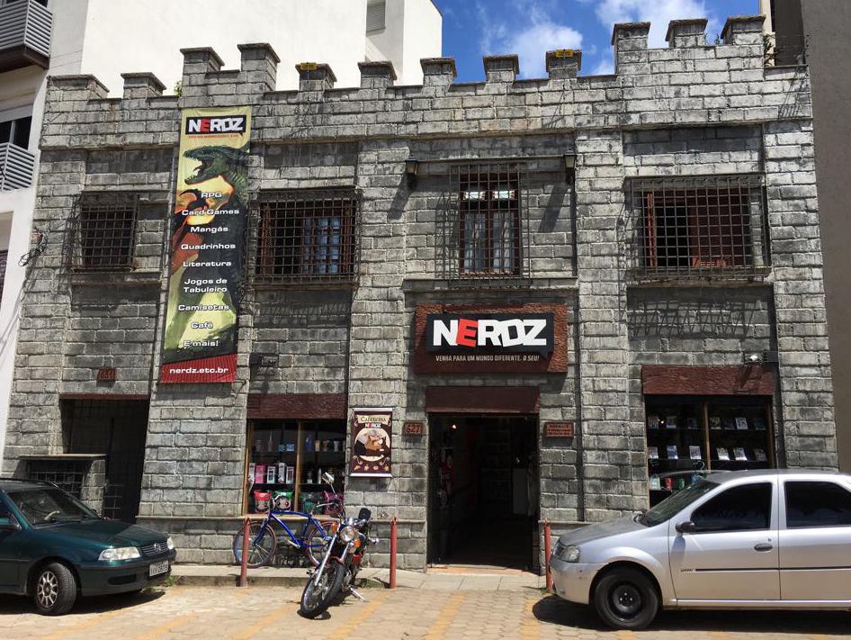 Fachada da loja Nerdz em Porto Alegre